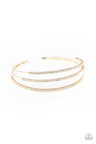 Paparazzi Accessories - Iridescently Infatuated - Gold Bracelet