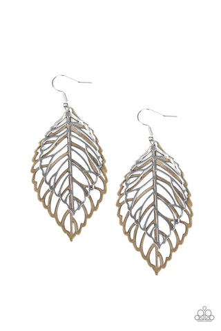 Paparazzi Accessories - Take It or LEAF It - Multicolor Earrings
