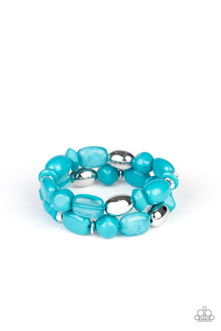 Paparazzi Accessories - Fruity Flavor - Blue Bracelet