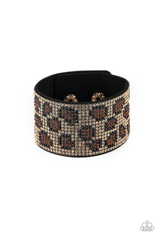 Paparazzi Accessories - Cheetah Couture - Brown Bracelet