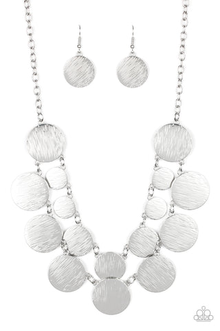 Paparazzi Accessories - Stop and Reflect - Silver Necklace Set