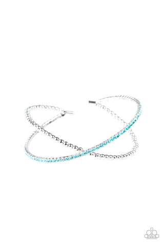 Paparazzi Accessories - Chicly Crisscrossed - Blue Bracelet