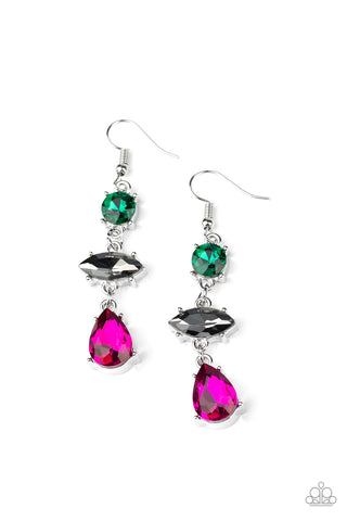 Paparazzi Accessories - Starlet Twinkle - Multicolor Earrings