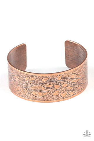 Paparazzi Accessories - Garden Variety - Copper Bracelet