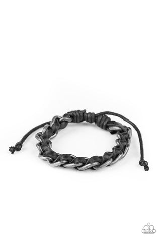 Paparazzi Accessories - Grease Monkey - Black Bracelet