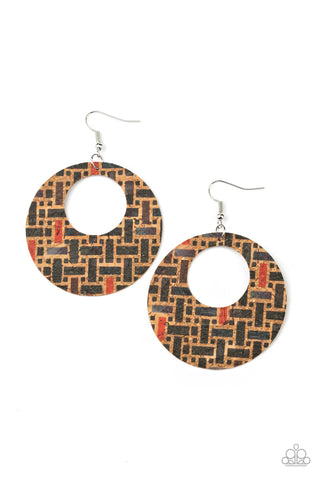 Paparazzi Accessories - Put A Cork In It - Black Earrings