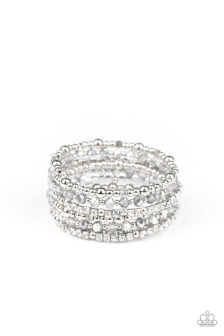 Paparazzi Accessories - ICE Knowing You - Silver Bracelet