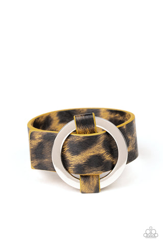 Paparazzi Accessories - Jungle Cat Couture - Yellow Urban Bracelet