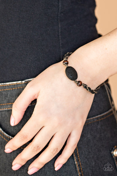 Paparazzi Accessories - On The Home Front - Black Bracelet
