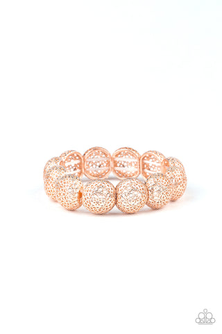 Paparazzi Accessories - Obviously Ornate - Rose Gold Bracelet