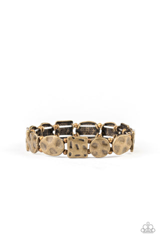 Paparazzi Accessories - Hammered Harmony - Brass Bracelet