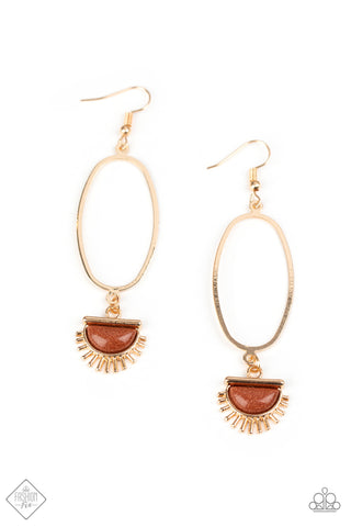 Paparazzi Accessories - SOL Purpose - Gold Earrings