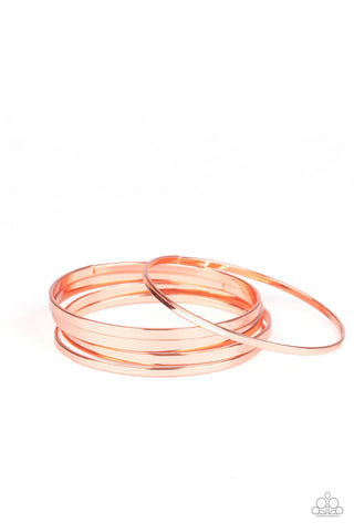 Paparazzi Accessories - Ensnared - Copper Bracelet