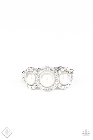 Paparazzi Accessories - Shut The Front DIOR! - White Ring
