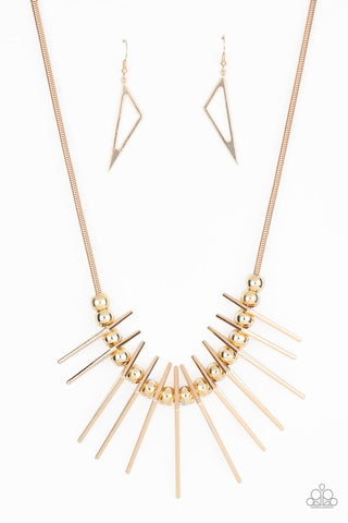 Paparazzi Accessories - Fully Charged - Gold Necklace