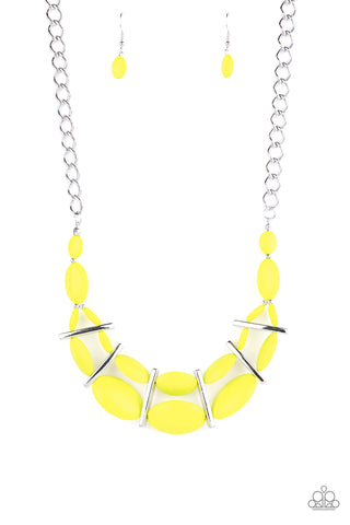Paparazzi Accessories - Law of the Jungle - Yellow Necklace Set