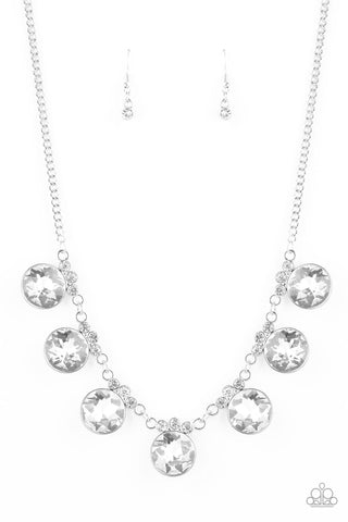 Paparazzi Accessories - GLOW-Getter Glamour - White Necklace Set