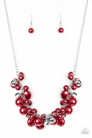 Paparazzi Accessories - Battle of the Bombshells - Red Necklace Set