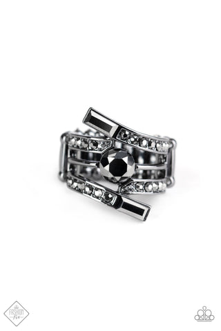 Paparazzi Accessories - Well Played - Black Ring