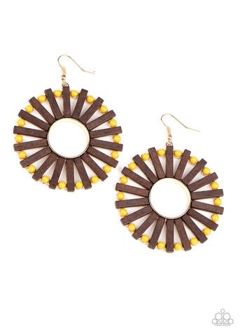 Paparazzi Accessories - Solar Flare - Yellow Earrings