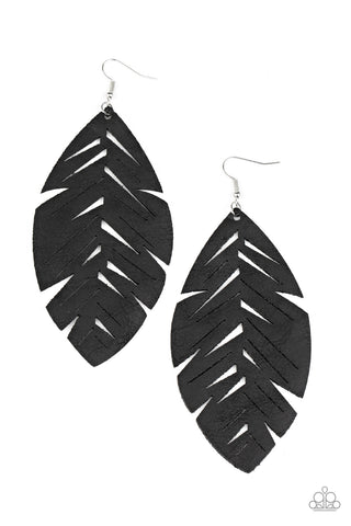 Paparazzi Accessories - I Want To Fly - Black Earrings