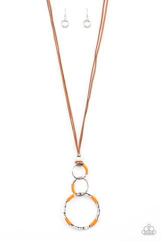 Paparazzi Accessories - Rural Renovation - Orange Necklace
