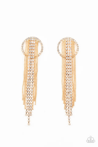 Paparazzi Accessories - Dazzle by Default - Gold Earrings