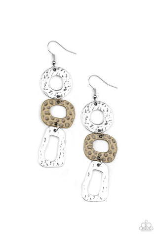 Paparazzi Accessories - Prehistoric Prowl - Multicolor Earrings