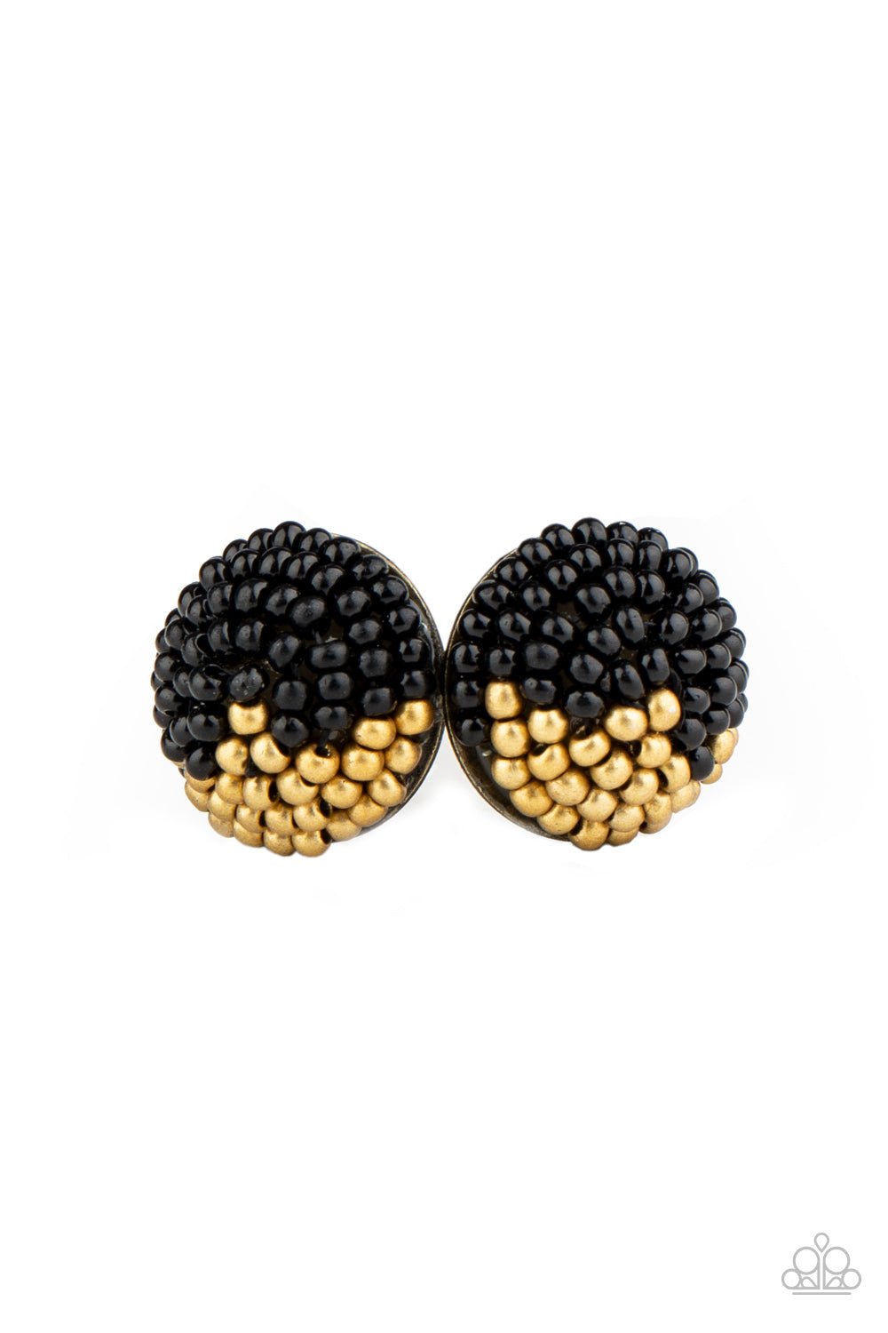 Paparazzi Accessories - As Happy As Can BEAD - Black Earring