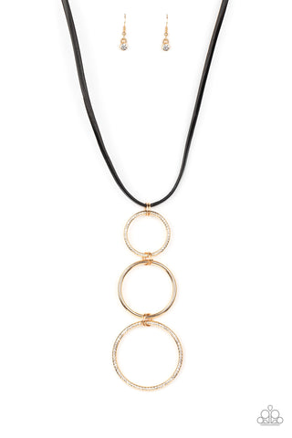 Paparazzi Accessories - Curvy Couture - Gold Necklace