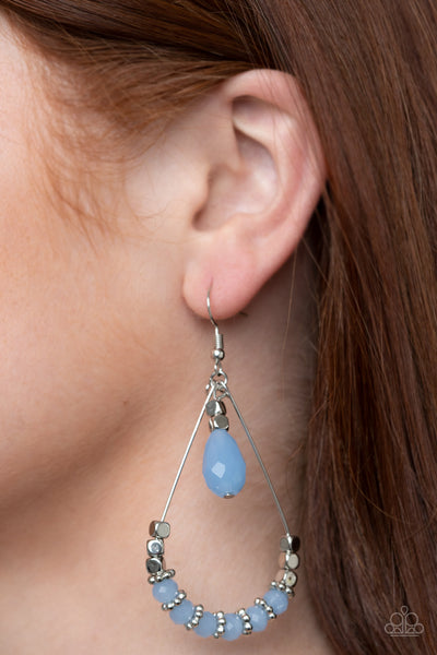 Paparazzi Accessories - Lovely Lucidity - Blue Earrings