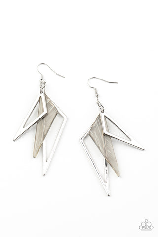 Paparazzi Accessories - Evolutionary Edge - Silver Earrings