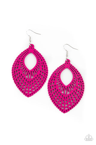 Paparazzi Accessories - One Beach At A Time - Pink Earrings