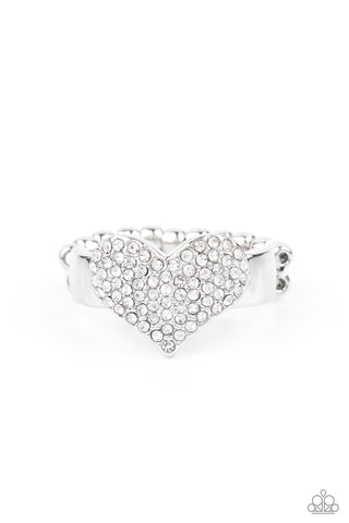 Paparazzi Accessories - Heart of BLING - White Ring