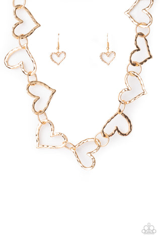 Paparazzi Accessories - Vintagely Valentine - Gold Necklace