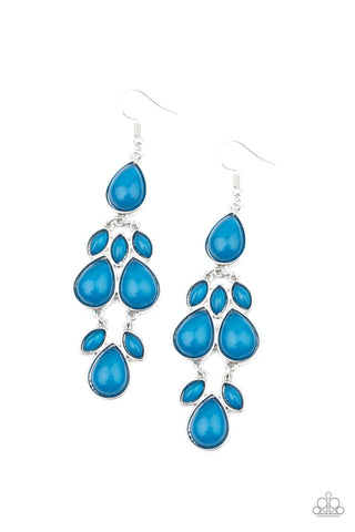 Paparazzi Accessories - Superstar Social - Blue Earrings