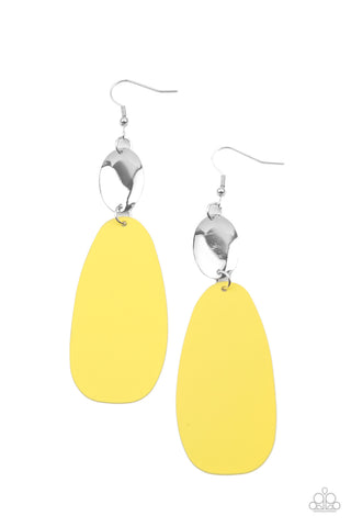 Paparazzi Accessories - Vivaciously Vogue - Yellow Earrings