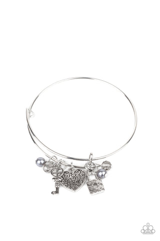 Paparazzi Accessories - Here Comes Cupid - Silver Bracelet