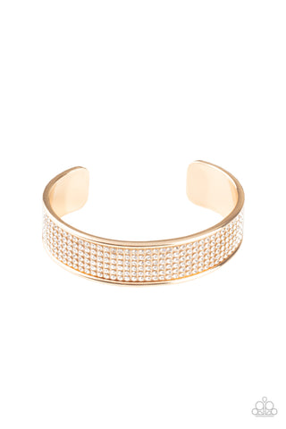 Paparazzi Accessories - Cant Believe Your ICE - Gold Bracelet