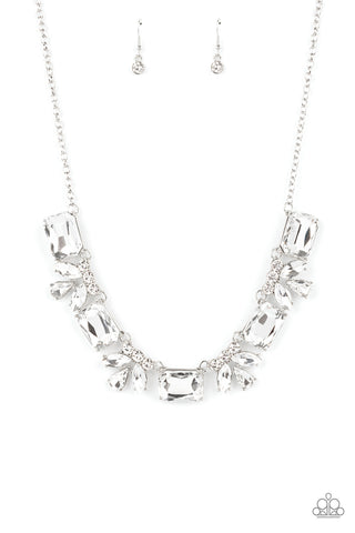 Paparazzi Accessories - Long Live Sparkle - White Necklace