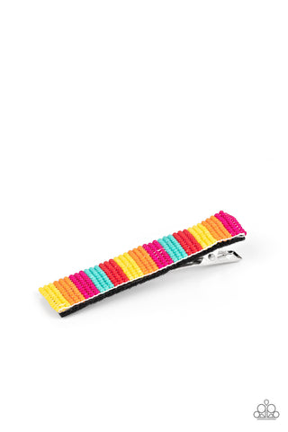 Paparazzi Accessories - All I BEAD Is You - Multicolor Hair Clip