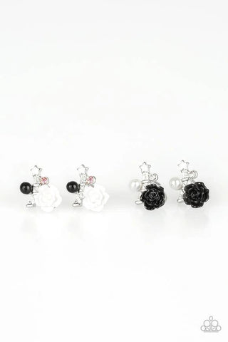 Paparazzi Accessories - Starlet Shimmer - French Flower Earrings