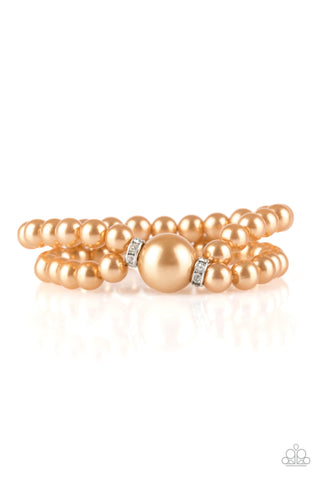 Paparazzi Accessories - Romantic Redux - Brown Bracelet