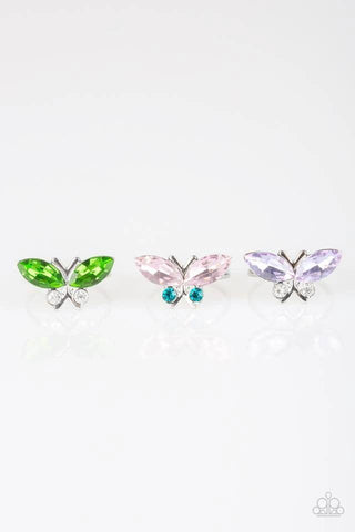 Paparazzi Accessories - Starlet Shimmer - Brilliant Butterfly Rings