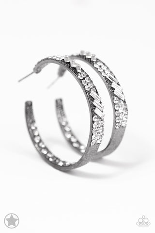 Paparazzi Accessories - GLITZY By Association - Gunmetal Earrings