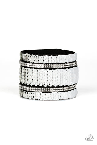 Paparazzi Accessories - MERMAID Service - White Bracelet - JMJ Jewelry Collection