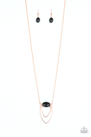 Paparazzi Accessories - Quarry Quest - Black Necklace Set
