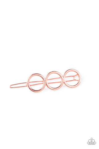 Paparazzi Accessories - A HOLE Lot of Trouble - Copper Hair Clip