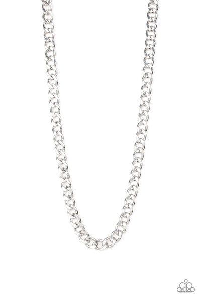 Paparazzi Accessories - Alpha - Silver Necklace