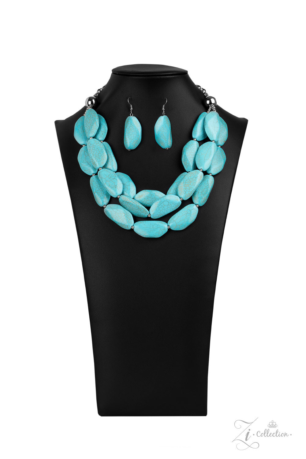 Paparazzi Accessories - Authentic - Blue Necklace Set